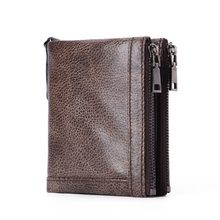 2019 New Genuine Leather Mens Wallet Man zipper Short Coin Purse Brand Male Cowhide Credit&id Wallet Multifunction Small Wallets multifunction the new leather mens wallet man coin purse small brand male credit
