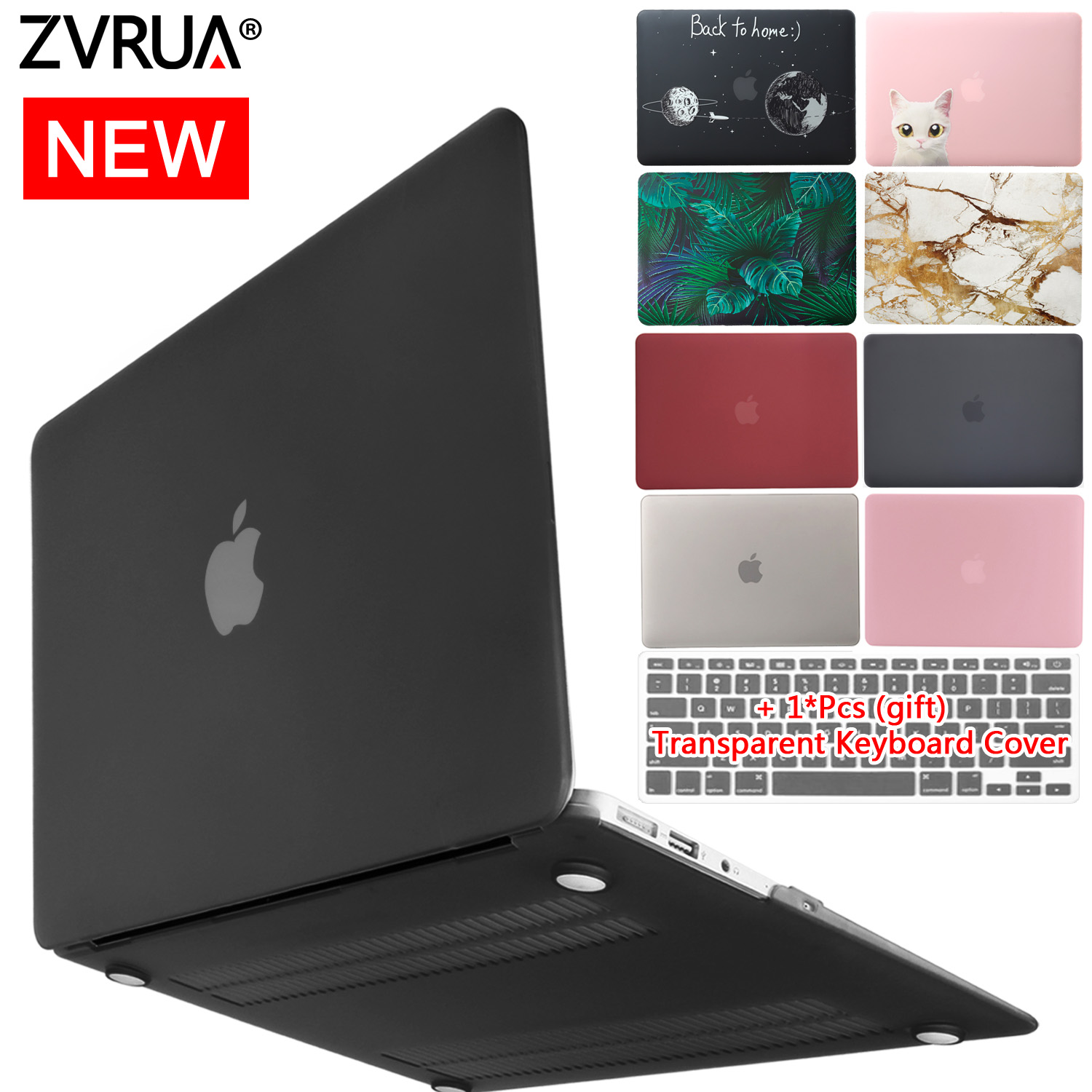 2019 New Laptop Case For Apple MacBook Air Pro Retina 11 12 13 15 Inch For 13.3 A1706 Mac Book Pro With Touch Bar+Keyboard Cover