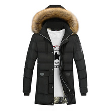 2018 New Winter Parka Men Jacket Coat Fur Collar Outerwear Fashion Hood Padded Quilted Warm Male Jackets Hooded Casual Wadde