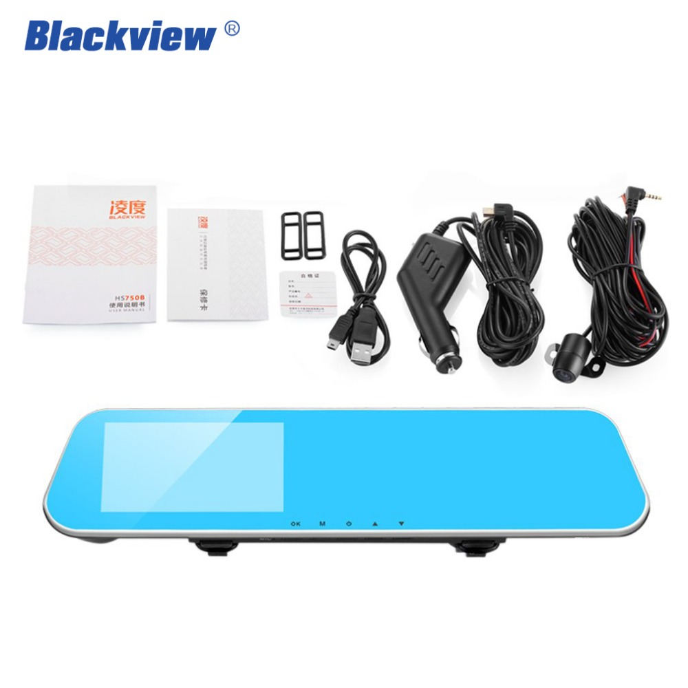 Blackview HS750 Car Dvrs Dash Cam with 4.3 Inch IPS Screen Rear View camera For Car video recorder Dual Lens Nice Night Vision