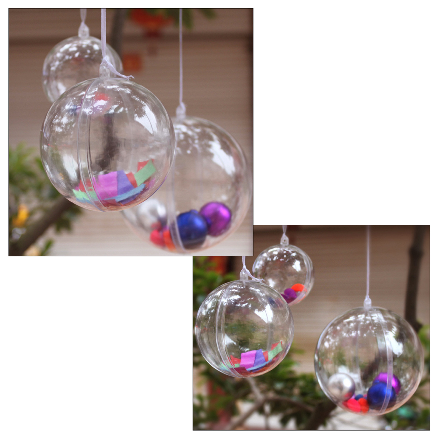 Clear plastic christmas ornament - Online Shop Clear Plastic 8cm Christmas Decoration Hanging Ball Baubles Round Bauble Ornament Xmas Tree Home Decor Christmas Baubles Xmas Aliexpress
