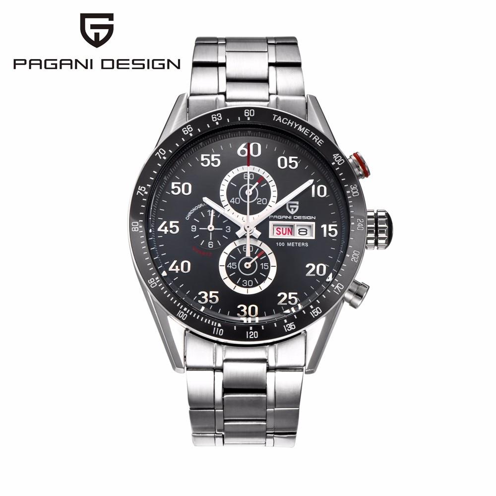 ФОТО Watches Men Luxury Brand Multifunction PAGANI DESIGN Quartz Men Sport Wristwatch Dive 100m Military Watch Relogio Masculino