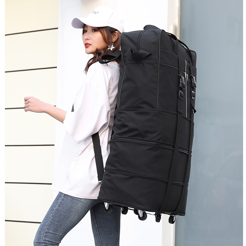 Image 4 - Large capacity Portable Travel Bag Rolling Luggage Can Expand 