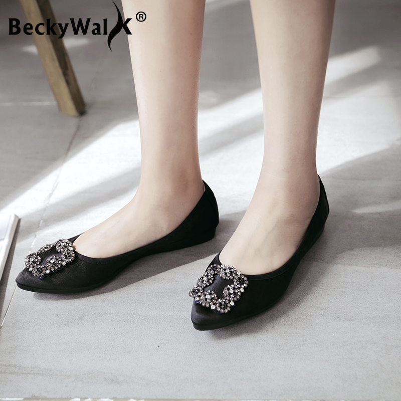 Foldable Ballet Ladies Flats New Trend Spring Ladies Sneakers Low-fronted Pointed Toe Loafers Driving Sneakers Lady zapatos mujer Ladies's Flats, Low cost Ladies's Flats, Foldable Ballet Ladies Flats New...