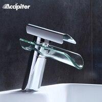 Смеситель для ванной комнаты, современный стеклянный водопад современный хром латунь ванная раковина смеситель водопад кран 2013 XP-007