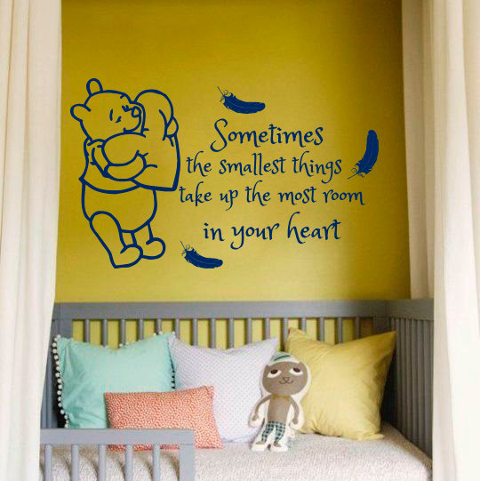 Vinyl Wall Art Quotes For Nursery : Kids room decal winnie pooh feathers quotes vinyl sticker