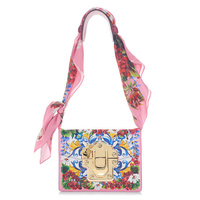 Роскошные фирменные дизайн Для женщин твил Trimmed Printed натуральная кожа сумка