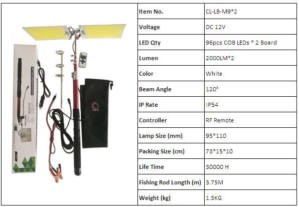 cob led fishing rod light 111-2