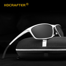 HDCRAFTER Brand Fashion Men Sunglasses Women Aluminum-Magnesium Frame High Quality Sun Glasses  Color film night vision Eyewear