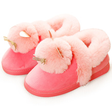 New Lovely Women Slippers Indoor Flip Flop Home Soft Cartoon Bear Girls Autumn Winter Warm Shoes