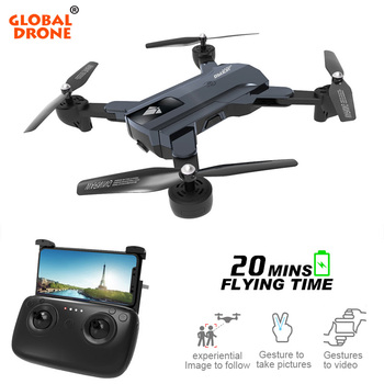 Global Drone GW196 RC Drones with Dual Camera HD Optical Flow Position Hover FPV Quadcopter Gestures to take photovideo Dron Квадрокоптер