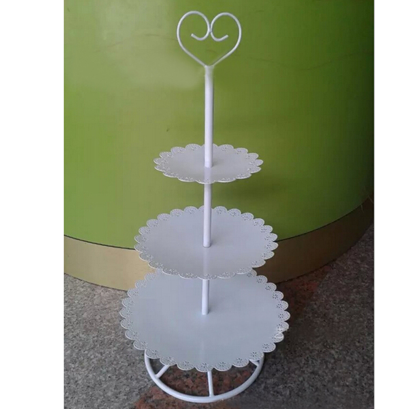 Festival Cake Stands Wedding Kitchen Decoration Metal,3Layers,White,1Pack 38026