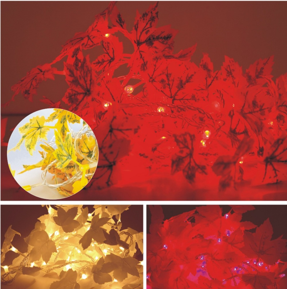 50M 197 Length 500 LEDs Maple  Blossom Led String lights Outdoor Wedding Decorations Holiday Xmas Festival Party Garden Decor