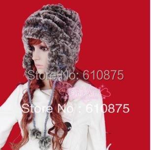Hot Sale winter plus size women Beanies rex rabbit hair Skullies fur hat