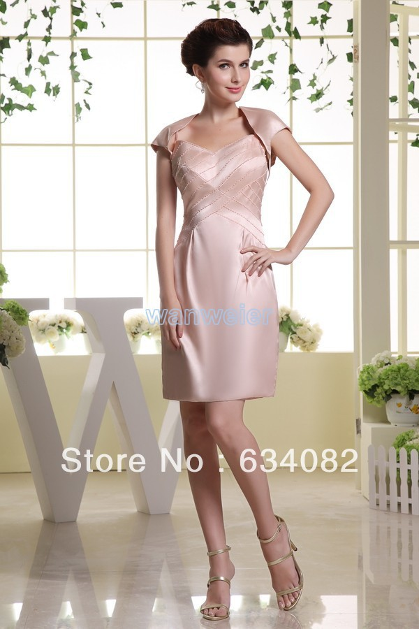 free shipping brides maid dresses 2016 pink sparkly bodycon dress bandage vestidos formales dress short mother of bride dresses in Mother of the Bride Dresses from Weddings Events