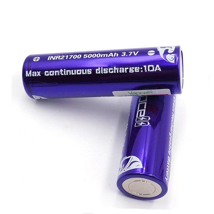 Vapcell 4 шт. INR 21700 5000 мАч 10A литий ионная аккумуляторная батарея с Nitecore Новый I4 Digi зарядное устройство ЖК дисплей Интеллектуальный для дыма E CIG - 6
