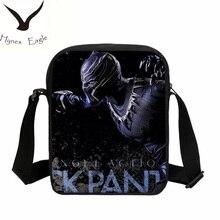 ФОТО hynes eagle brand fashion black panther printing small messenger bag crossbody bag casual shoulder bags handbags school bag