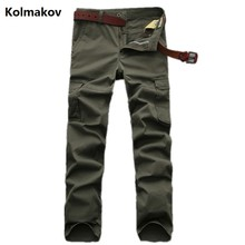 Kolmakov 2017 new arrival trousers males's casual mannequin jeans males high-quality 100% cotton jeans and cargo pants measurement28-42
