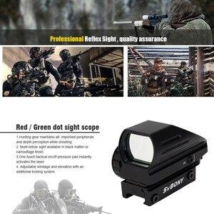 Image 5 - Svbone 20mm Ratil rouge point portée lunette optique tactique rouge vert 4 réticule point réflexe optique vue chasse portée F9129A