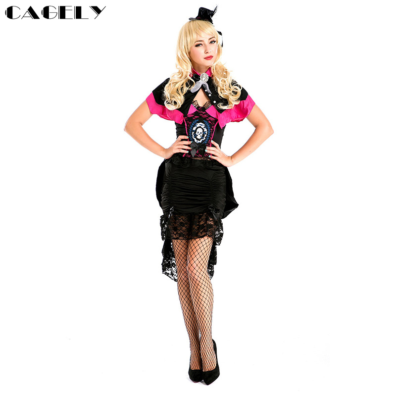 Novelty & Special Use Independent Modern Wicth Costume Set Pythoness Saucy Enchantress Cosplay Party Dress Cape Skirt Masquerade Ball Outfits Halloween Costume Movie & Tv Costumes