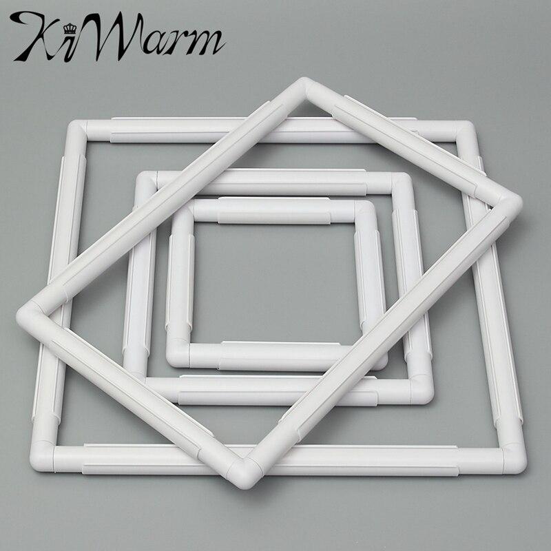 KiWarm 1 unid rectángulo forma de plástico bordado marco Cruz Hoop ...
