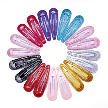 20pcs Snap Hair Clips Glitter Hairpins for Children Kids Hair Clip Pins for Baby Girls Hair Accessories Cute Metal Barrettes 5cm