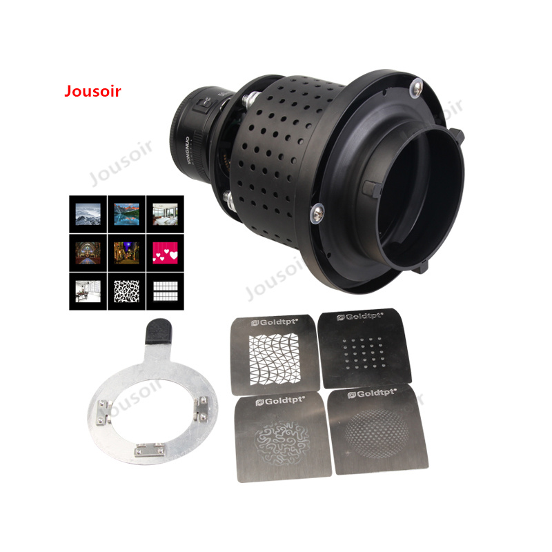 LED Conical Snoot With Lens Photographic Flash Focusing Mirror Optical Art Styling Bowen Mouth CD50 T03