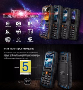 Image 3 - VKworld New Stone V3 Mobile Phone Waterproof IP68 2.4 inch FM Radio 3 SIM Card Led Flashlight GSM Russian Keyboard Cell phones