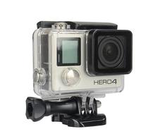 High quality GoPro Waterproof Housing Case 45m Underwater Protective with Mounting seat and long screw For Gopro Hero  3+ 4 цена