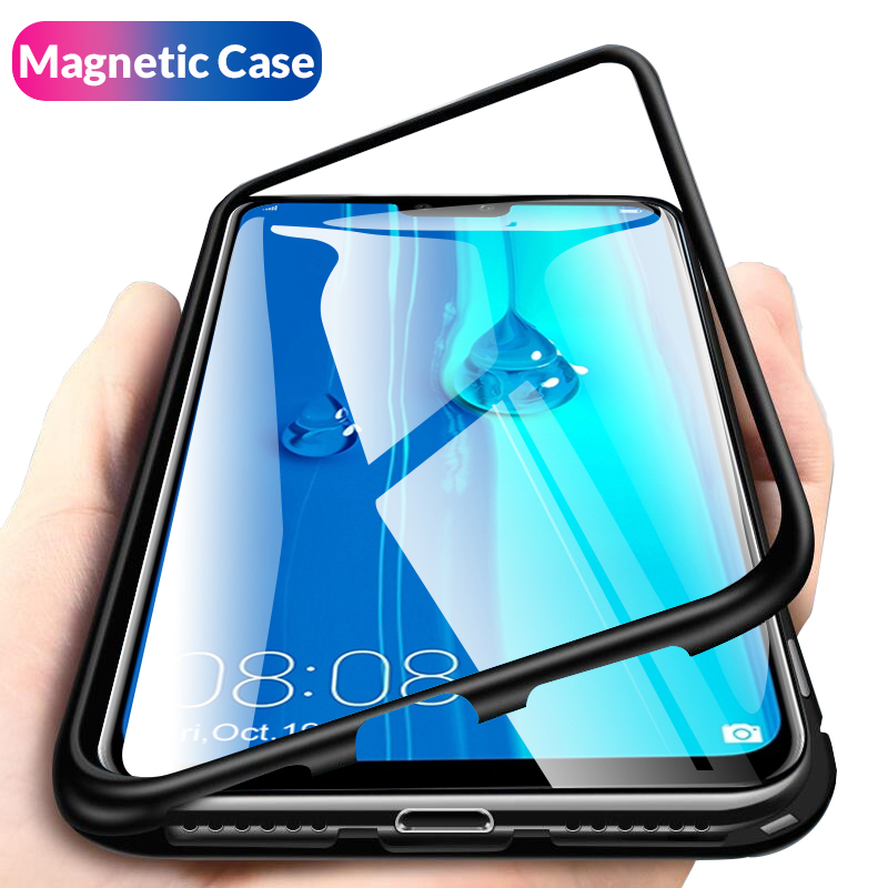 Magnetic Adsorption Metal Case For Huawei Y9 2019 Mate 20 Lite Case Magnet Cover For Huawei Hawei P30 Pro Mate 20 P20 Lite CoqueMagnetic Adsorption Metal Case For Huawei Y9 2019 Mate 20 Lite Case Magnet Cover For Huawei Hawei P30 Pro Mate 20 P20 Lite Coque