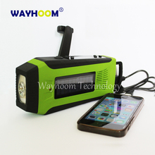 AM/FM Radio Hand Crank Charger Solar Power Radio 2000mAh Emergency USB Phone Charger