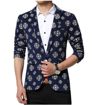 2019 new Spring and Autumn style men fashion blazers  high quality fashion casual slim single button men suit jacket size M-6XL