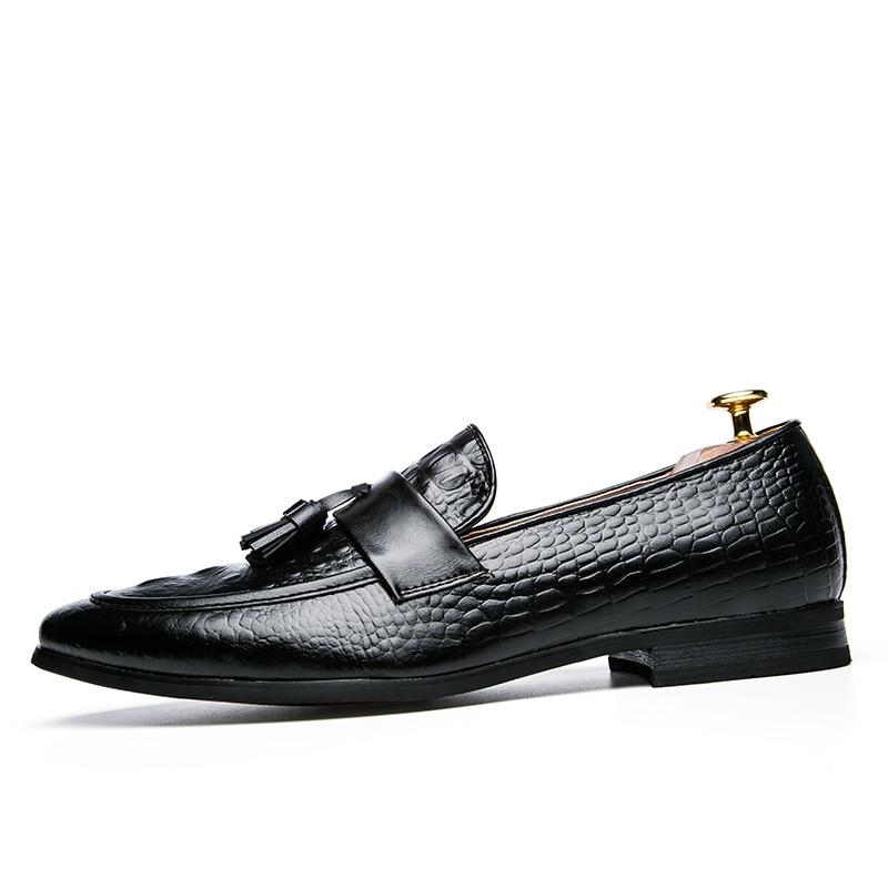 mens tassel shoes leather italian formal snake fish skin dress office footwear luxury brand fashion elegant oxford shoes for men (7)