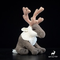 Super Soft Plush Baby Toys Reindeer Doll Simulation Animals Angle Deer Toy Squatting