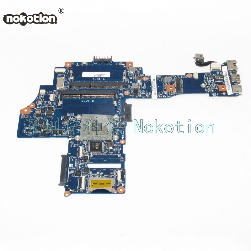 NOKOTION H000078250 Laptop Motherboard For Toshiba Satellite C40-B EM6010 CPU DDR3 Main Board WORKS msi original zh77a g43 motherboard ddr3 lga 1155 for i3 i5 i7 cpu 32gb usb3 0 sata3 h77 motherboard