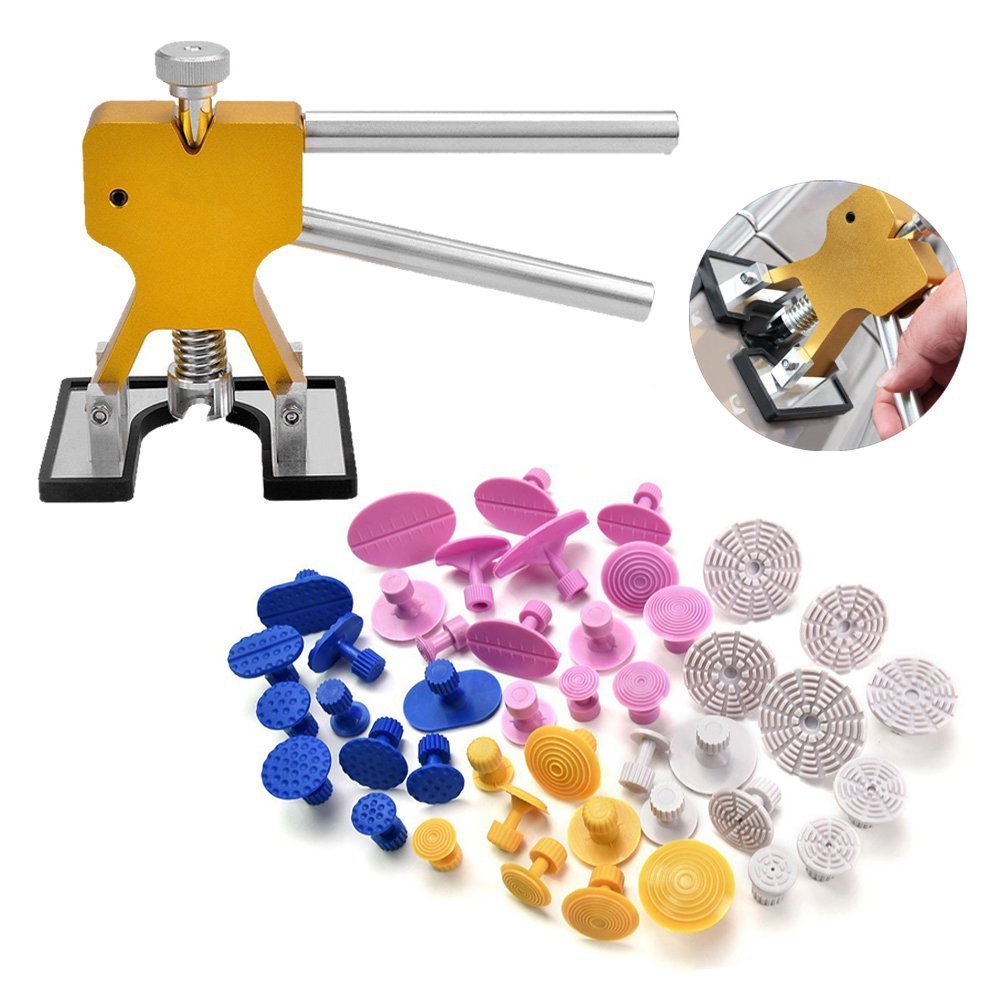 PDR Kit PDR Tools Dent Lifter Glue Puller PDR Puller Tabs Paintless Dent Repair Removal Tools For Hail Damage And Door Ding whdz 64pcs pdr tool dent lifter paintless dent hail removal repair tools glue pdr tool kit pdr pro tabs tap down line board