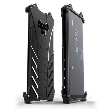 R-JUST Batman Armor Rugged Shockproof Kickstand Metal Aluminum Case for Samsung Galaxy Note 10 Note 9 8 Case for S10/S10+/S10e 9 image