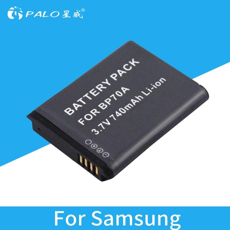 PALO 740mAh BP70A ES65 ES70 ES73 ES75 PL80 ST30 ST60 Rechargeable Li-ion Camera Battery for SAMSUNG ES PL ST SL TL series etc. smeg st 733 tl