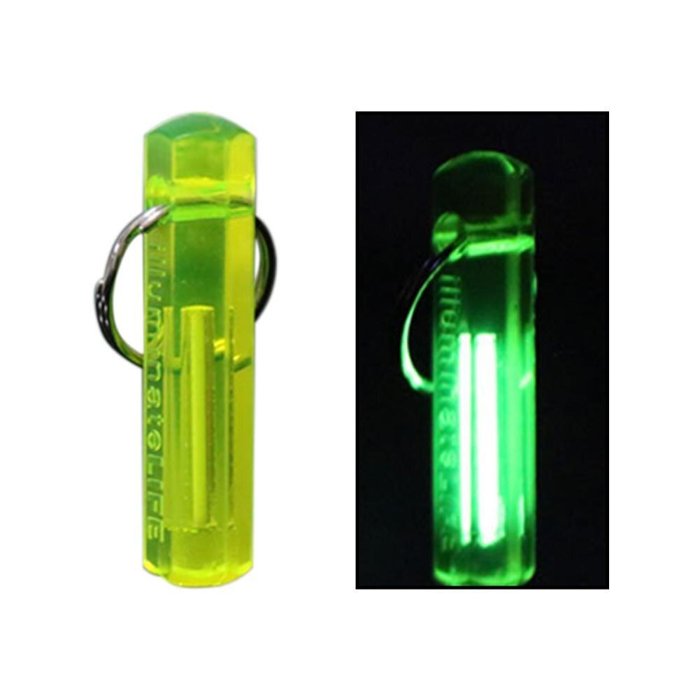 NEUE Tragbare Mini Outdoor Camping Tritium Gas Leuchtende Keychain Schlüssel Ring Ornament