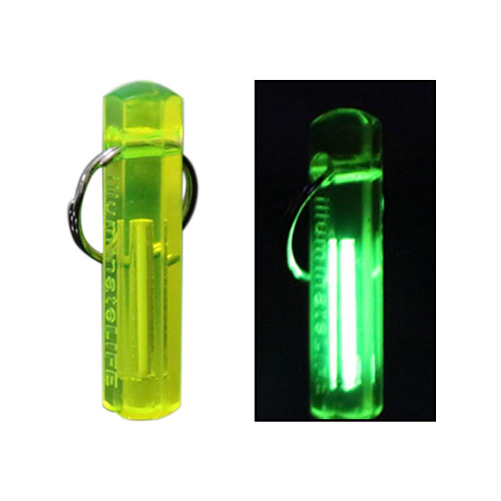 NEW Portable Mini Outdoor Camping Tritium Gas Luminous Keychain Key Ring Ornament
