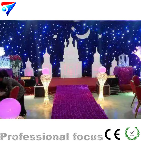 Free Shipping 3m 9m Led Star Cloth Led Stage Light Led Star Curtain Changeable Led Lighting