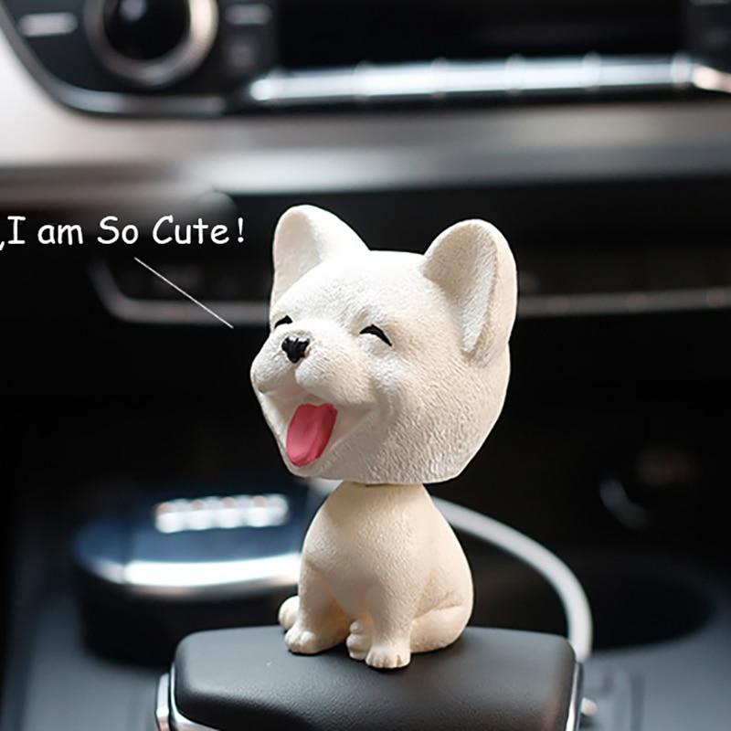 Coche Wobble Decoración Nodding Juguete Salpicadero Perro Puppy De Juguetes Encantador Cabeza Sacudida Muñecas Auto Bobblehead Adornos TFKJ1c3l