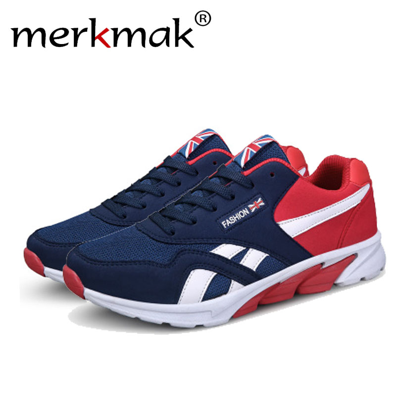 Merkmak 2017 Men Flats Shoes Casual Fashion Spring Autumn Breathable Comforable Lace Up Mixed Color Footwear Male Shoes Dropship spring autumn casual men s shoes fashion breathable white shoes men flat youth trendy sneakers