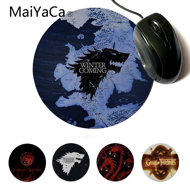 MaiYaCa Funny Game Of Thrones Silicone Pad To Mouse Game Professional Round Gaming Mousepad Keyboard Mat