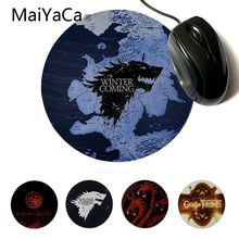 MaiYaCa Funny Game of Thrones Silicone Pad to Mouse Professional Round Gaming Mousepad Keyboard Mat