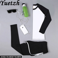 2 piece sportwear fitness sport yoga suit for women russian playsuit clothes tracksuit quick try bra T shirt gym suit