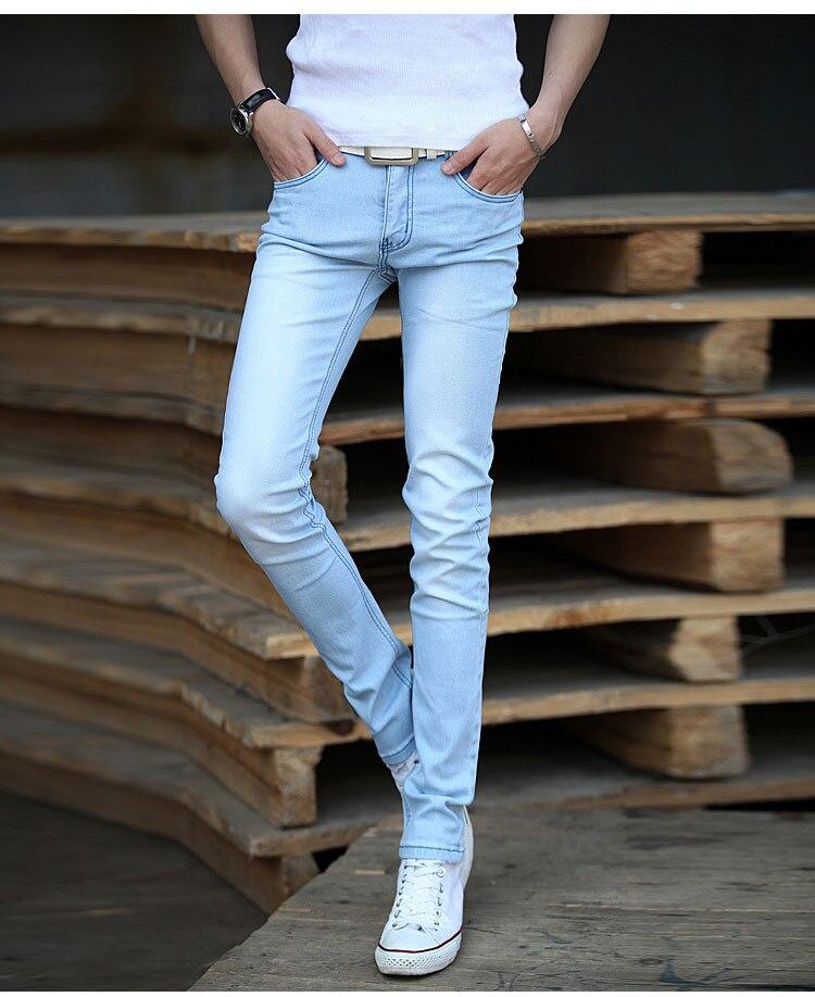 Aliexpress.com : Buy New 2017 mens Light blue jeans straight denim ...