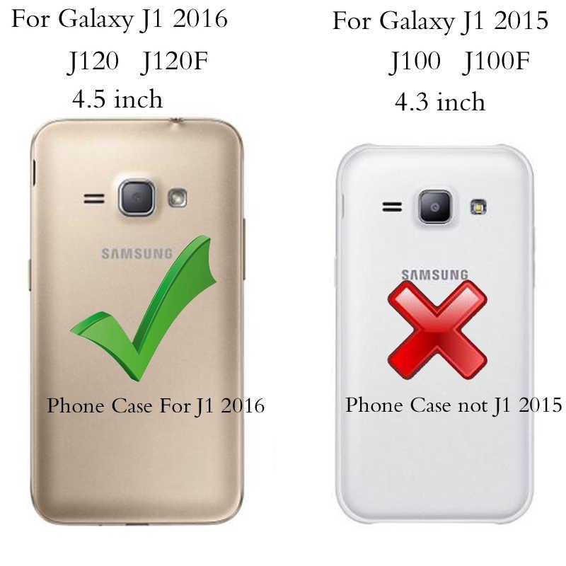 Para Hoesje Samsung Galaxy j1 2016 funda con Tapa de cuero para teléfono Samsung J1 2016 funda para Samsung Galaxy J1 6 J120