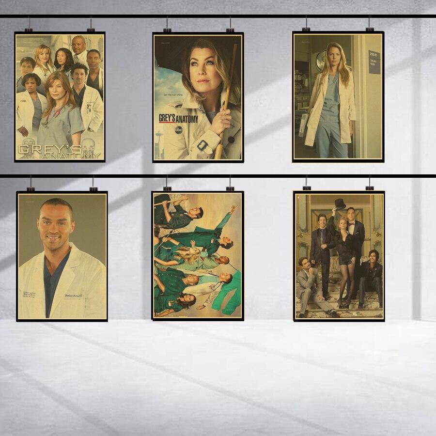 Vintage Greys Anatomy TV Show retro posters home decor kraft wall ...