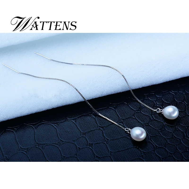Collier de perles d'eau douce naturelles 925 collier en argent Sterling perle bijoux pour femmes mariage/anniversaire/fête/cadeau mode n